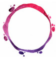 abstract purple and violet circle banner painting vector image vector image