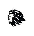 angry lion head black and white logo vector image vector image