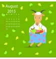 August calendar vector image vector image