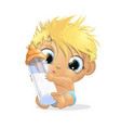 beautiful cute baby vector image vector image