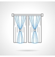 Bedroom curtains flat line icon