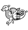 black and white authentic celtic bird vector image vector image