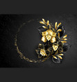 black jewelry orchid with gold paint vector image vector image