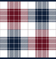 blue red tartan plaid seamless pattern vector image vector image