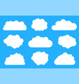 bright white clouds collection vector image vector image