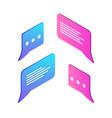 chatting box empty icons set vector image