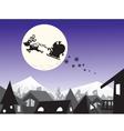 christmas city wallpaper color vector image vector image