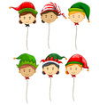 Christmas theme with fancy balloons vector image vector image