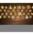 Christmas Toys Template vector image vector image