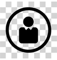 Client Flat Rounded Icon vector image