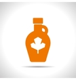 color flat maple syrup bottle template vector image vector image