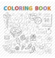 Coloring bookFebruary set vector image vector image