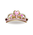 crown of the princess vector image vector image