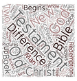 Differences The Old and New Testament text vector image vector image