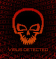 Digital skull virus vector | Price: 1 Credit (USD $1)