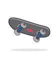 doddle skateboard flat on white background vector image vector image