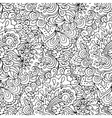 Doodle style floral garden seamless pattern vector image vector image