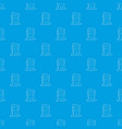 dwelling house pattern seamless blue vector image