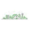 eco farming - thin line design style vector image vector image