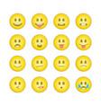 emoticon smile icons set 6 vector image vector image