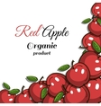 Frame Red Apples vector image vector image