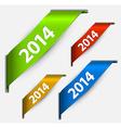 Fresh colorful New Year ribbon vector image vector image