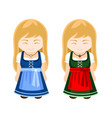 german bavarian girls in national dress vector image
