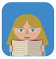 Girl with a book vector image