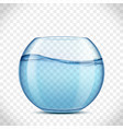 glass aquarium with water and without fish vector image vector image