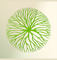 green tree paper cut for environment concept vector image vector image