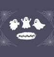 halloween greeting card night background with vector image vector image