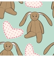 Hand drawing rabbit toys childish seamless pattern vector image vector image