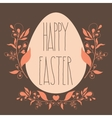 Happy Easter festive poster with floral decorative vector image