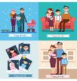 Happy Family with Newborn Baby Set vector image