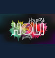 happy holi party banner greeting card party vector image vector image