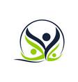 health life spa and yoga vector image vector image