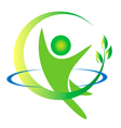 Health nature men logo