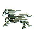 Horse of Speed vector image vector image