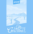 invitation card merry christmas and happy new year vector image vector image