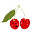isolated happy cherry vector image vector image