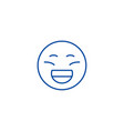 laughing emoji line icon concept laughing emoji vector image vector image