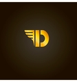 Letter D gold font Template for company vector image