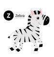 letter z zebra zoo animal alphabet english abc