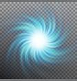 lightning blue vortex effect object eps 10 vector image vector image