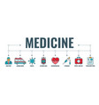 medical healthcare typography banner vector image vector image