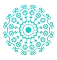 Mehendy mandala flower vector image