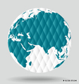 Modern globe vector image vector image