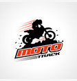 moto track logo sign symbol icon vector image