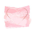 nude pink brush strokes in golden frame frame in vector image