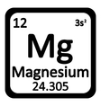 Periodic table element magnesium icon vector image